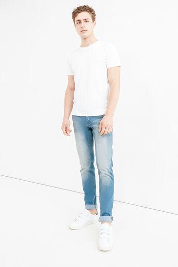 Jeans skinny fit stretch effetto used, Denim, hi-res