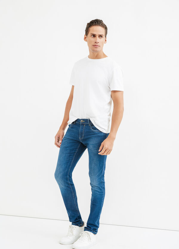 Faded, skinny-fit stretch jeans | OVS