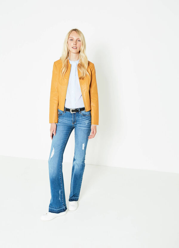 100% viscose jacket with stitching | OVS