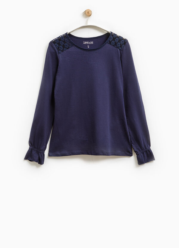T-shirt con pizzo Smart Basic | OVS