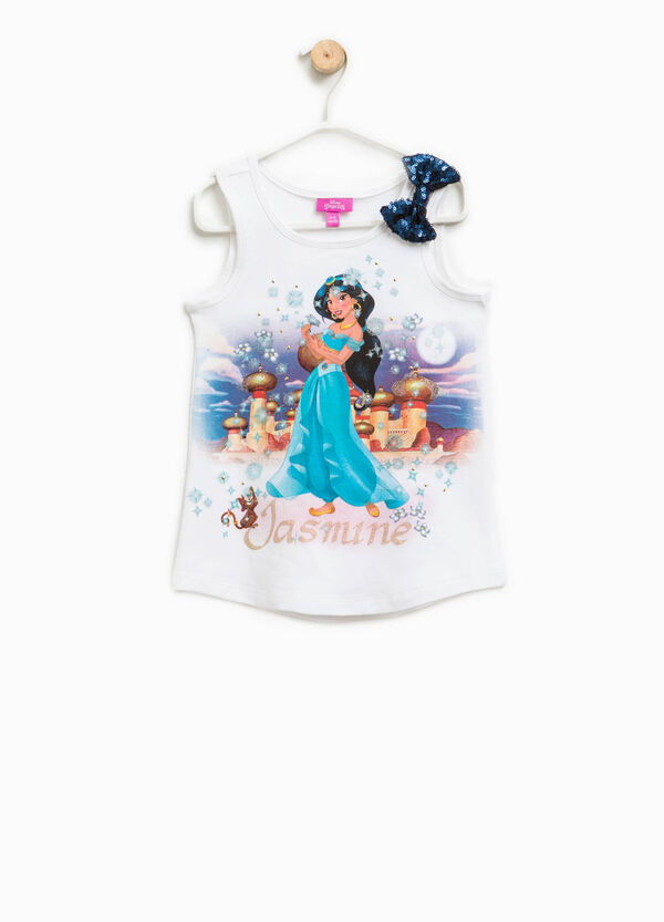 Top with bow and Aladdin print | OVS