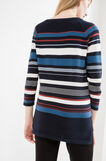 Cotton blend pullover with striped pattern, Navy Blue, hi-res