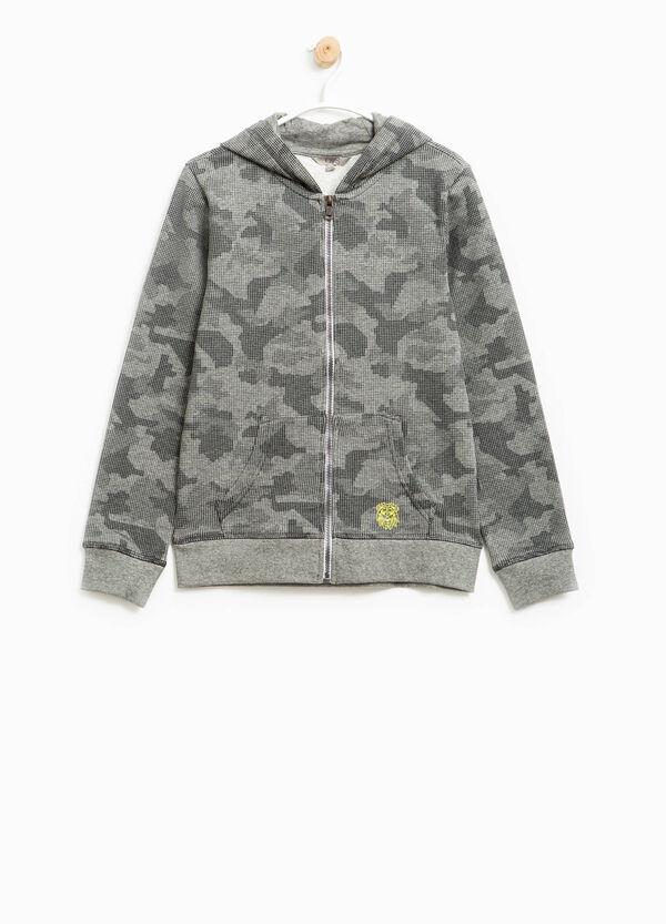 Felpa in puro cotone camouflage | OVS
