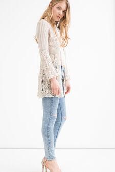 Jeans skinny fit con strappi, Lavaggio chiaro, hi-res