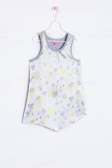 Top with floral pattern, White, hi-res
