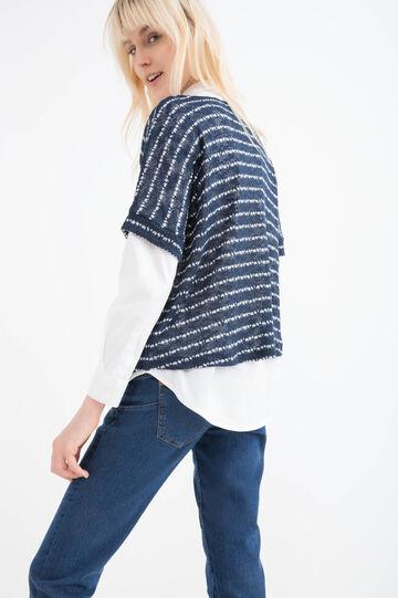 Stretch T-shirt with kimono sleeves