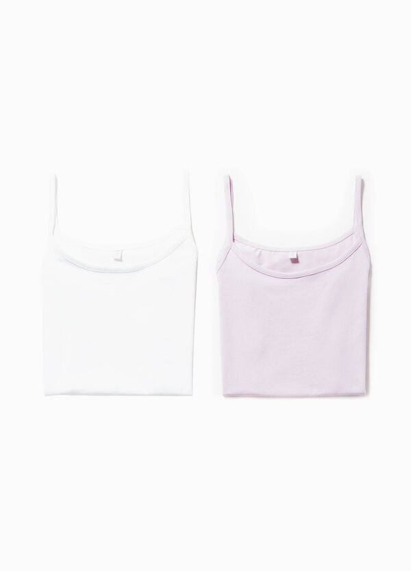 Two-pack stretch cotton under tops | OVS
