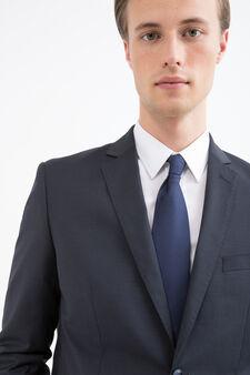 Elegant, slim-fit, pure wool suit, Blue, hi-res