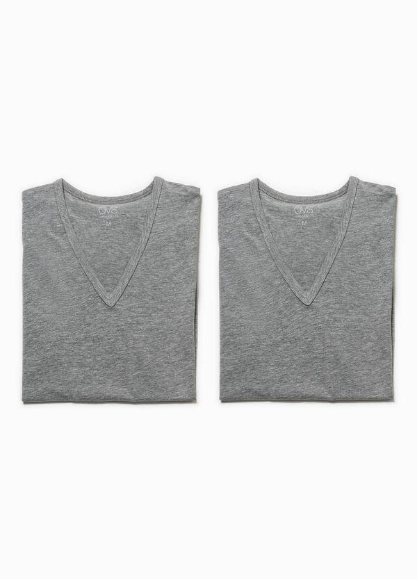 Pack de dos camisetas interiores en tejido elástico | OVS