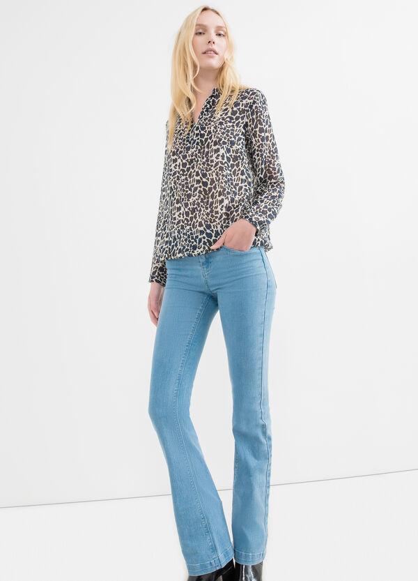 Long-sleeved shirt with Mandarin collar | OVS