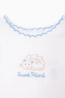 Sleeveless good luck shirt, White/Light Blue, hi-res