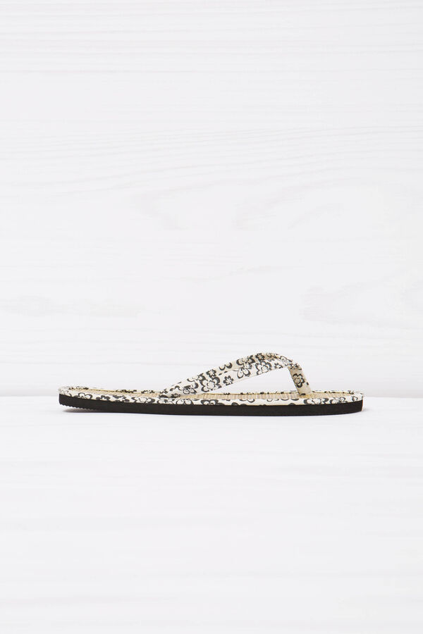 Patterned thong sandals | OVS