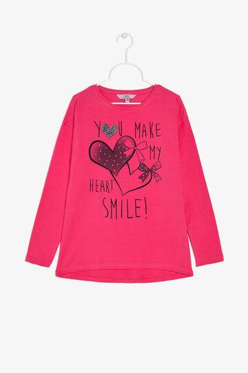 T-shirt maniche lunghe, Rosa fuxia, hi-res