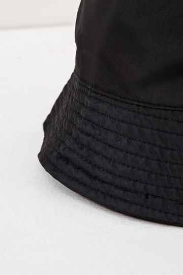Solid colour fishing hat, Black, hi-res