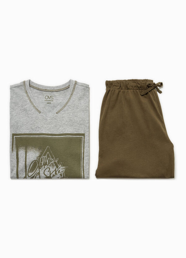 Top and Bermuda shorts pyjama set | OVS