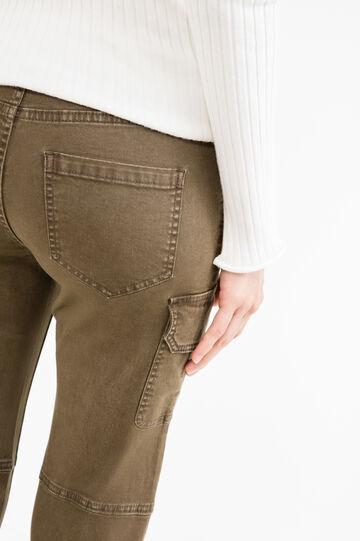 Pantaloni cargo cotone stretch, Marrone chiaro, hi-res