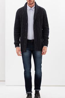 Slim fit oxford check shirt, Multicolour, hi-res
