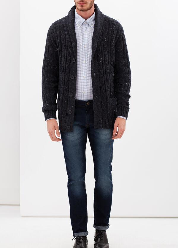 Camicia slim fit in oxford a quadri | OVS