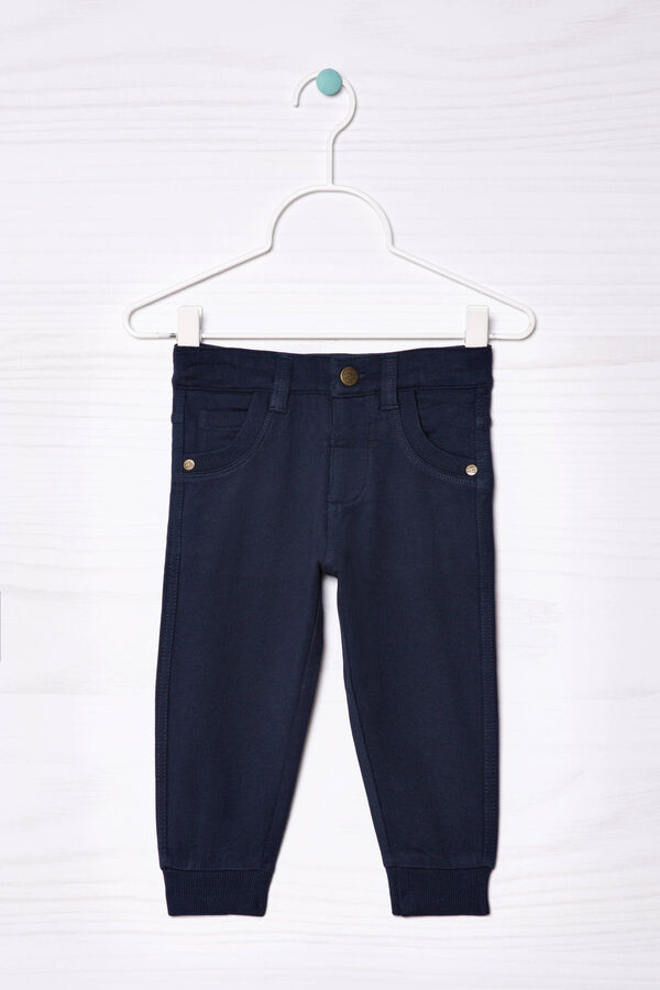 100% cotton trousers with button | OVS