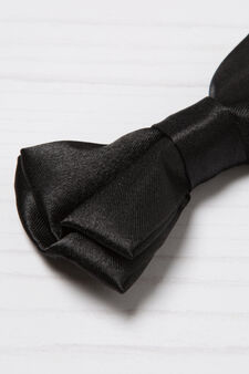 Bow tie with fixed bow, Black, hi-res