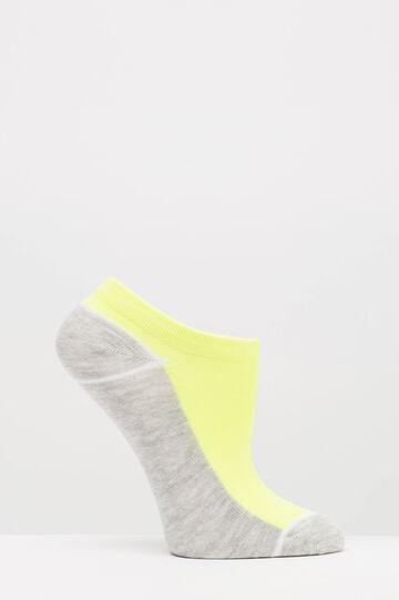Set tre paia di calze stretch bicolore, Grigio, hi-res