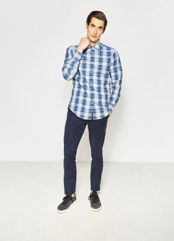 Slim-fit Rumford shirt with tartan pattern | OVS