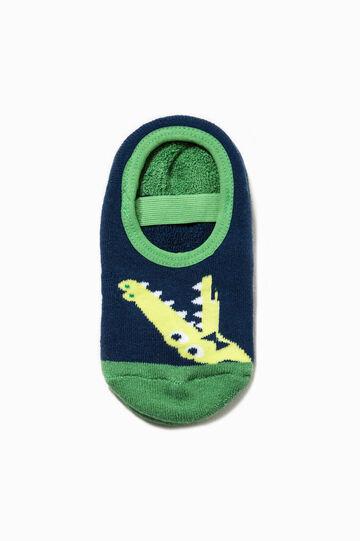Calze antiscivolo stretch con ricamo, Blu/Verde, hi-res