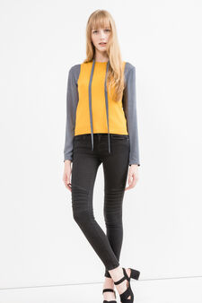 Sleeveless knitted sweater, Ochre Yellow, hi-res