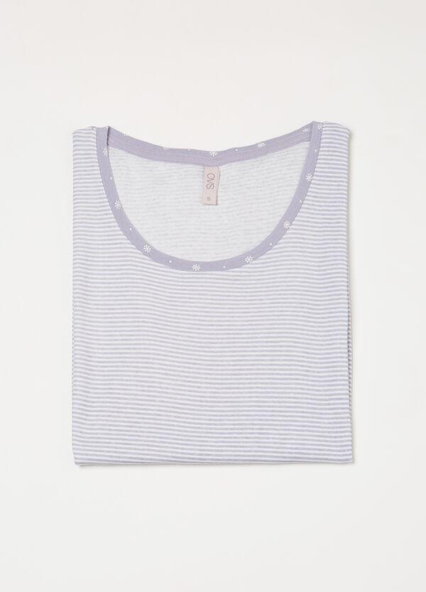 Maglia pigiama puro cotone a righe | OVS
