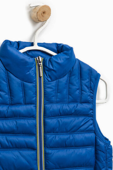 Quilted gilet with double pocket, Royal Blue, hi-res