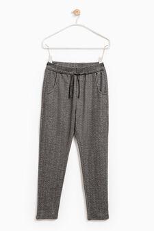 Gym pants with drawstring, Grey, hi-res