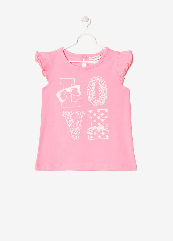 T-shirt with glitter decoration | OVS