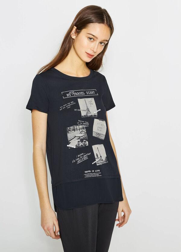 Camiseta en mezcla de algodón y modal con estampado | OVS