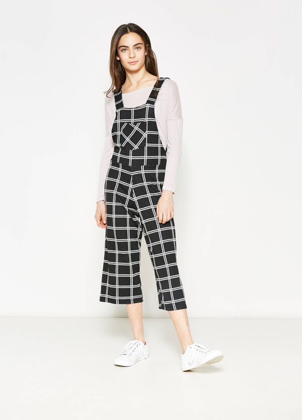 Teen check crop dungarees | OVS