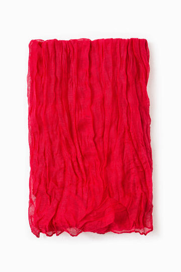 Creased effect pashmina, Red, hi-res