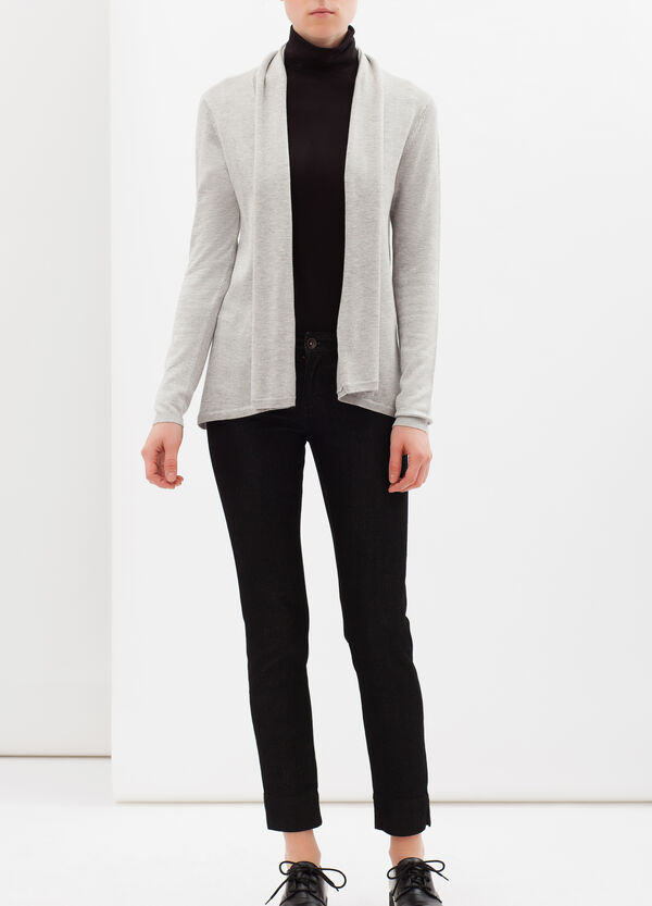Viscose blend jacket with lapels | OVS