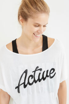 OVS Active Sport Training T-shirt, White/Black, hi-res