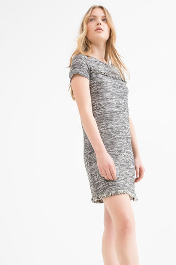 Short dress in stretch cotton blend