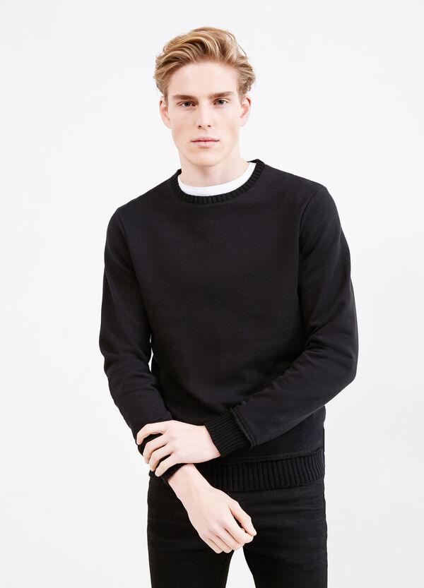 100% cotton round neck sweatshirt   OVS