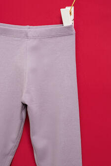 Solid colour stretch leggings, Lilac, hi-res