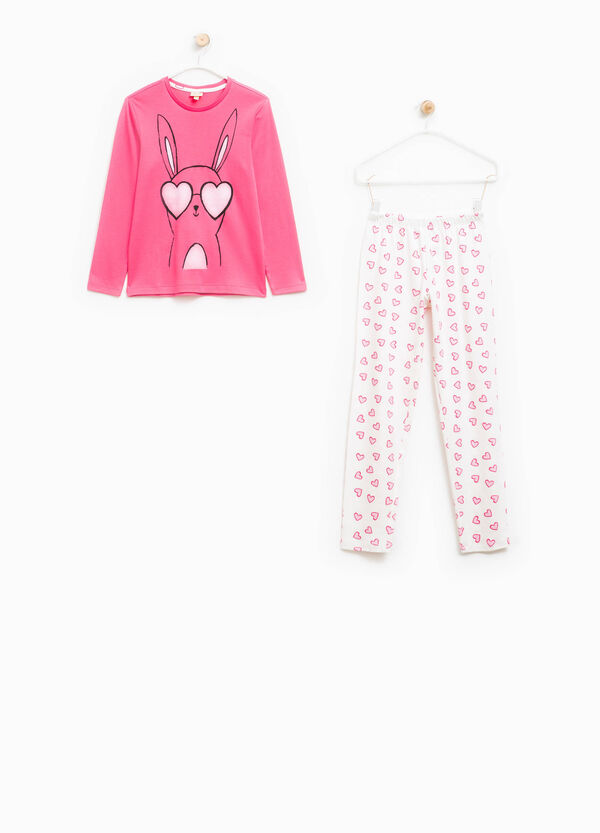 Pyjamas with rabbit and hearts print | OVS