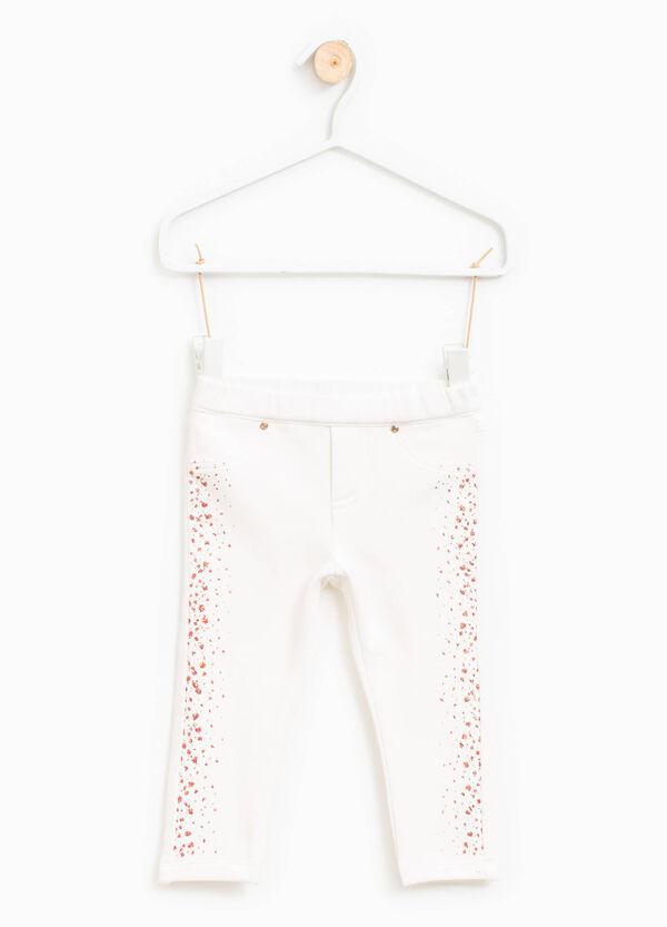 Pantaloni cotone stretch con glitter | OVS