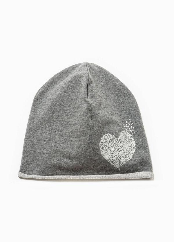 Printed beanie cap in jersey | OVS