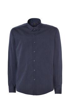 Easy-iron, striped shirt, Black/Blue, hi-res