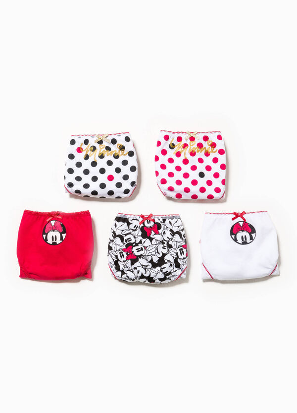 Pack de cinco braguitas de lunares con Minnie | OVS