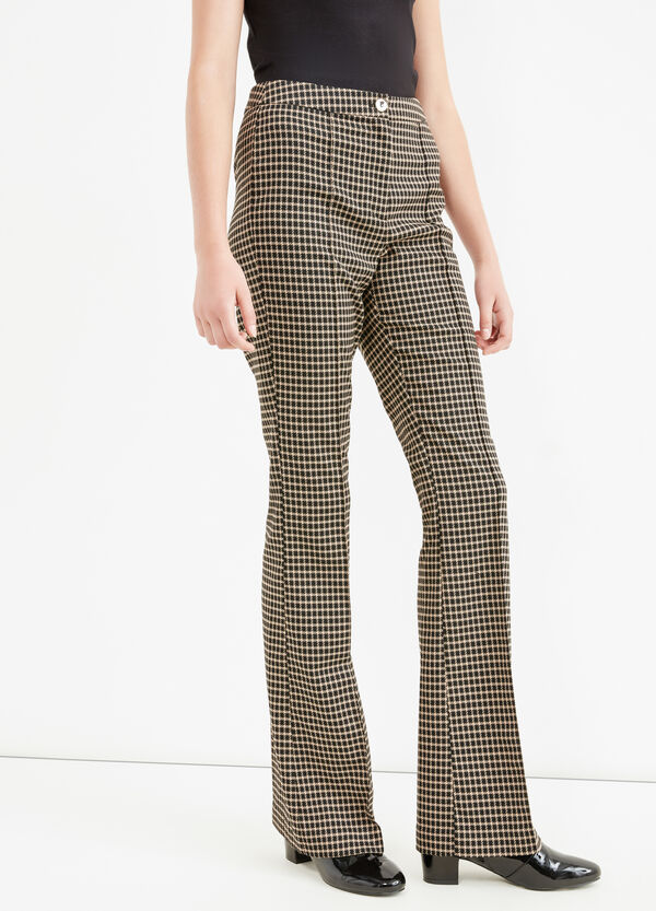 Checked stretch elegant trousers | OVS