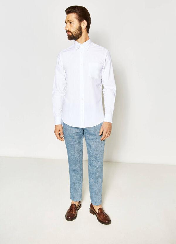 Camisa formal regular fit con trama en relieve | OVS