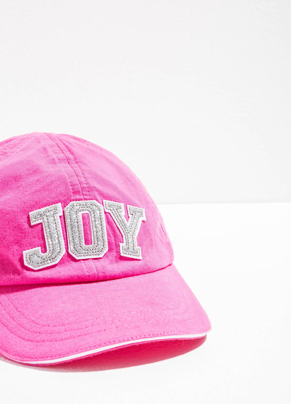 Baseball cap with glitter patches | OVS