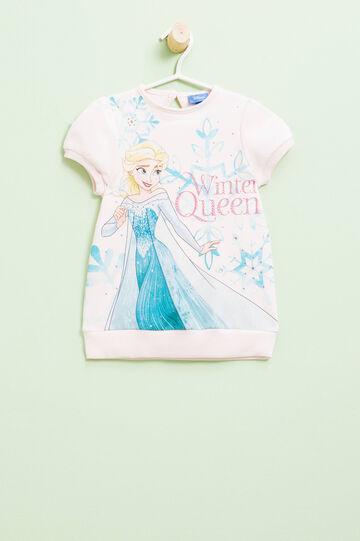 Vestido con mangas abullonadas y estampado grande de Frozen, Rosa claro, hi-res