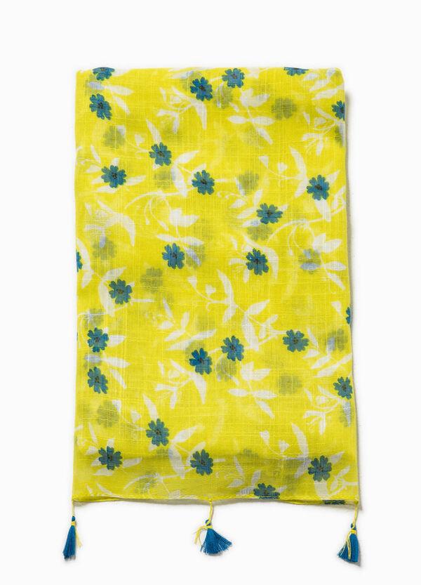 Bufanda floral con borlas | OVS